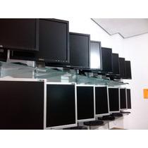 Monitores 17polegadas Dell Lg Vai Com Os Cabos Força Sinal