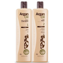 New Vip Kit Escova Progressiva Argan Oil 2x1000ml
