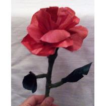 Flor De Hoja De Maíz, 30 Cm Totomoxtle. Artesanía Tlaxcala
