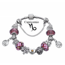 Pulseira Tipo Pandora Vivara Prata Signos Completa Com Beads