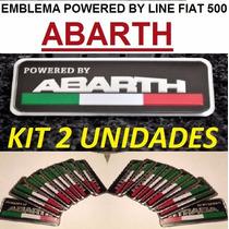 2 Emblema Bandeira Abarth Fiat Italy 500 Punto Palio Bravo