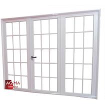 Aberturas Porton Aluminio Todo Vidrio Repartido Oferta Agma