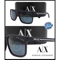 Gafas Armani Exchange Ax4041s Matte Blue Micas Grey Original