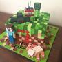 Tortas Y Cupcakes Infantiles Para Cumpleaños De Minecraft