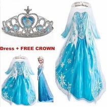 Vestido De La Princesa Elsa Frozen