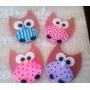 Adornos Topper P/ Cupcakes Tortas Cookies Buhos Baby Shower