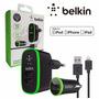 Kit Carregador Belkin Veicular E Tomada + Cabo Iphone 5 / 6