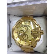 Relógio Diesel Dz Dourado Original Promoção Garantia + Sedex