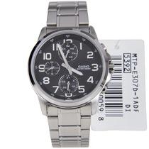 Reloj Casio Estandar Mtp-e307d-1 Analogo Día Y Fecha 12/24