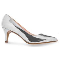 Zapatos Plata Espejo Andrea 2359823 Tacón 7cm