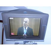 Tv Philips 21 Polegadas Tela Plana S/ Controle C/ Suporte