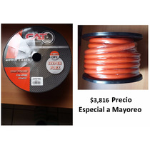 Rollo Calibre 0 Con 15m Cable De Cobre Cpw015or Cat