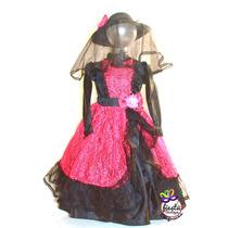 Disfraz Catrina Vestido Muertos Calavera Niña Mujer Dama