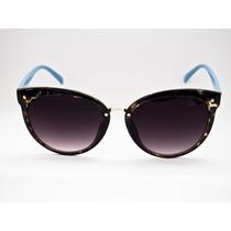 Óculos Solar Lougge Feminino Redondo Grande Mlg1030.4