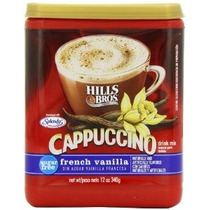 Hills Bros Cappuccino Sin Azúcar Vainilla Francesa 12 Onza