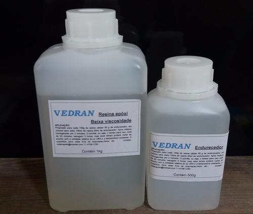 Resina epoxi transparente kit 1 5 kg baixa viscosidade r - Resina epoxi transparente ...