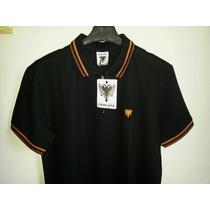 Camisa Polo Masculina Marca Famosa Cavalera Tm G E Gg Preta.