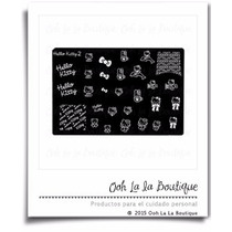Placa Estampado Uñas Sello Hello Kitty 2 #0218