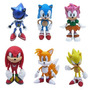 Coleção Kit Action Figure Sonic The Hedgehog 6 Bonecos Sega