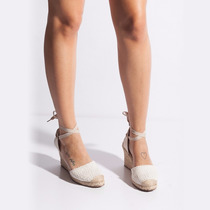 Sandalia Espadrille Crochê Branco Identica Schutz Qualidade