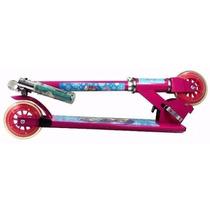 Patinete Brinquedo Infantil Freio 2 Rodas Aluminio Frozen