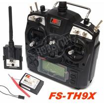 Radio Flysky Fs-th9x 2.4ghz 9 Canais + Receptor Aeromodelo