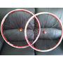 Roda Xero Speed Inertia R4 700 Vermelha - Raios 18/24 - Bike