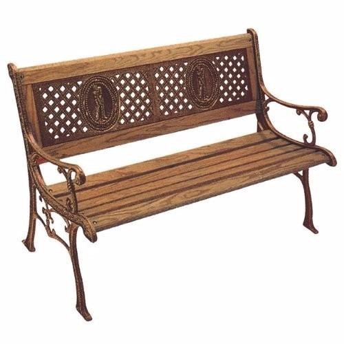 Banca madera acabado metalico exterior jardin terraza - Sofas de hierro para jardin ...