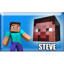 Disfraz Minecraft Cabezas Steve, Enderman, Creeper Head