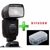 Flash Yongnuo Yn- 565ex Ii Versão 2 Canon Ttl + Difusor 80d