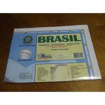 Mapa Do Brasil - Político Estatístico Rodoviário - 120x90cm