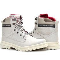 Sapato Coturno Bota Masculino Casual Ziper Palmilha Gel