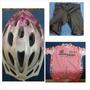 Casco , Camisa Y Licras Talla L ,accesorios Para Bicicleta