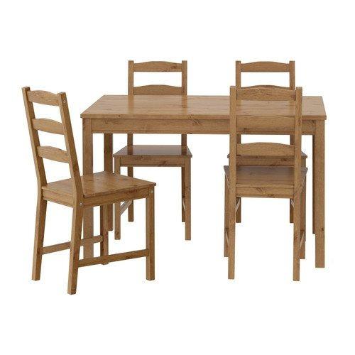 Ikea Mesa Y 4 Sillas Madera De Pino Sólida Cocina Comedor C ...