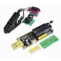 Programador Usb Ch341a + Pinza + Cable Bios Eeprom 24 25