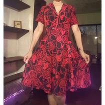 Vestidos Vintage Pin Up Adaptable De Talle 1 A 3 Divinos