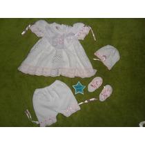 Vestido Tejido Para Niña Recien Nacida