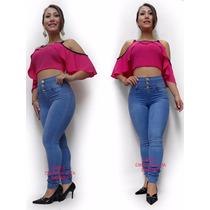 Calça Feminina Com Bojo Sawary Sabrina Sato Azul Skinny 913