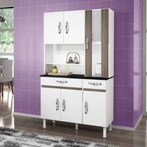 Armário De Cozinha Sampaio 6 Portas E 2 Gavetas Branco