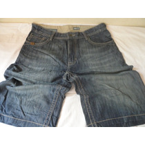 Bermuda Jeans Importada Baggy-fit. N.36 = 44br. Bordada.
