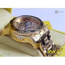 Invicta Pro Diver 0074 Banhado A Ouro 18k