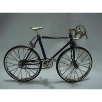 Miniatura Bicicleta Vintage Corrida Mini Bike Azul Escuro