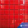 Mosaicos Decorativo Vidrio Rojo Unicolor 30x30c Baño Cocina