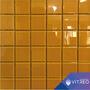 Mosaicos Decorativo Vidrio Amarillo Unicolor Baño Cocina