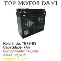 Bateria Teckpower Yb7b-bs Strada Nx Tdm Xr Xt Cbx Nx