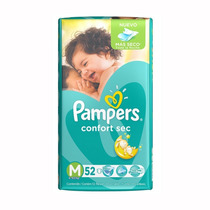 Oferta! Pañales Pampers Confort Sec X 52u Talle M 12 Horas!!
