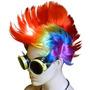 Disfraz Gafas De Punk Diesel Steampunk Luz Led Mohawk Rave