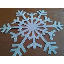 Copos De Nieve Goma Eva Medida 15 Cm