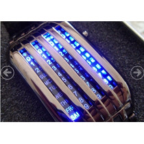 Reloj Matrix Led Azul Lujo Digital Binario Moderno Luz
