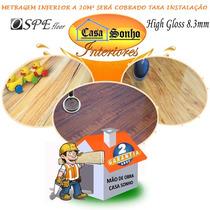 Piso Laminado Ospe High Gloss 8.3mm 88,00 M² Instalado Em Sp